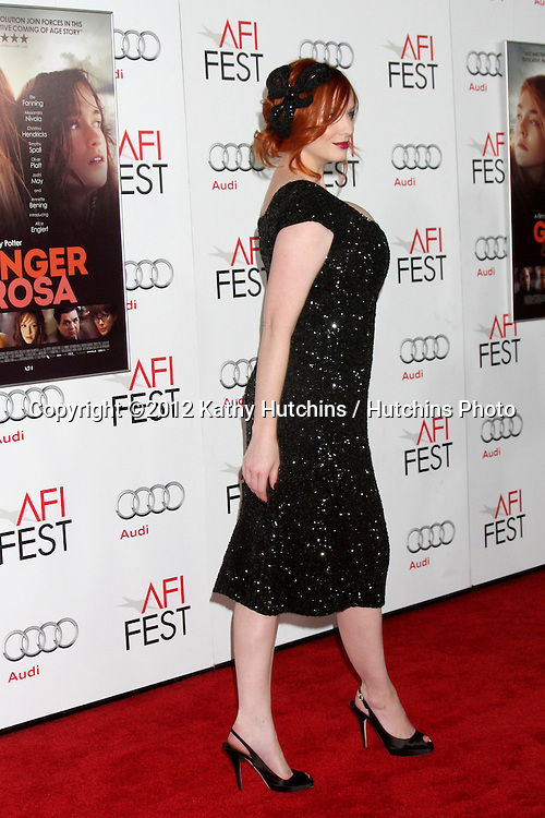 "LOS ANGELES - NOV 7:  Christina Hendricks arrives at the ""Ginger And Rosa"" Special Screening at Graumans Chinese Theater on November 7, 2012 in Los Angeles, CA"