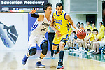 Joe Glen Matthew #13 of Winling Basketball Club dribbles the ball up court against the Xu Adam #16 of Eastern Long Lions during the Hong Kong Basketball League game between Eastern Long Lions and Winling at Southorn Stadium on June 01, 2018 in Hong Kong. Photo by Yu Chun Christopher Wong / Power Sport Images