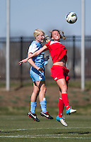 Julia Roberts, Caitlin Ball. The Washington Spirit defeated the North Carolina Tar Heels in a preseason exhibition, 2-0, at the Maryland SoccerPlex in Boyds, MD.