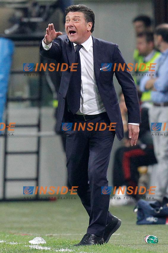 """Walter Mazzarri Napoli, Milano 14/4/2013 .Stadio """"S.Siro"""".Football Calcio 2012/2013 Serie A.Milan Vs Napoli.Foto Marco Bertorello Insidefoto"""