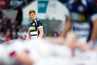 Jack Tovey of Bristol Rugby watches a scrum. Greene King IPA Championship Play-off Final (second leg), between Bristol Rugby and Doncaster Knights on May 25, 2016 at Ashton Gate Stadium in Bristol, England. Photo by: Patrick Khachfe / JMP