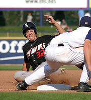 August 17, 2003:  Jim Terrell of the Kannapolis Intimidators during a game at Classic Park in Eastlake, Ohio.  Photo by:  Mike Janes/Four Seam Images