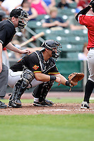 Rochester Red Wings Catcher Wilson Ramos during a game vs. the Norfolk Tides at Frontier Field in Rochester, New York;  May 31, 2010.   Norfolk defeated Rochester by the score of 2-1.  Photo By Mike Janes/Four Seam Images