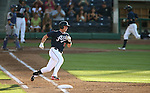 Reno Aces' Matt Davidson rounds first after hitting a two-run double against the Las Vegas 51s in a Triple-A baseball game in Reno, Nev., on Sunday, July 21, 2013. The 51s won 15-8.<br /> Photo by Cathleen Allison