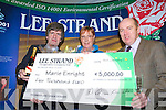 MONTHLY WINNER:  Marie Enright from Ballyduff was the monthly winner of EUR5,000 from Lee Strand on Friday morning. From l-r were: Tim O'Keeffe (financial controller), Marie Enright  and Jerry Dwyer (Production Manager).   Copyright Kerry's Eye 2008