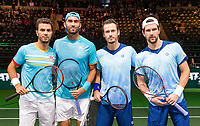 Rotterdam, The Netherlands, 14 Februari 2019, ABNAMRO World Tennis Tournament, Ahoy, quarter final, Jean-Julien Rojer (NED) / Horia Tecau (ROU) vs [WC] Wesley Koolhof (NED) / Jurgen Melzer (AUT),<br /> Photo: www.tennisimages.com/Henk Koster