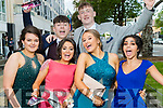 Chloe Casey, Evan O'Callaghan, Lillian O'Shea, Conor O'Brien, Erika Lynch and Adriana Drapakova, pictured at Pobalscoil Inbhear Scéine, Kenmare Debs, held at the Brandon Hotel, Tralee, on Friday night last.