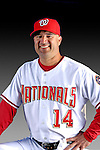 25 February 2007: Washington Nationals Manager Manny Acta poses for his Photo Day portrait at Space Coast Stadium in Viera, Florida.<br /> <br /> Mandatory Photo Credit: Ed Wolfstein Photo<br /> <br /> Note: This image is available in a RAW (NEF) File Format - contact Photographer.