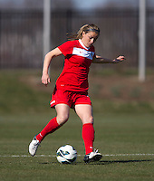 Hayley Siegel. The Washington Spirit defeated the North Carolina Tar Heels in a preseason exhibition, 2-0, at the Maryland SoccerPlex in Boyds, MD.