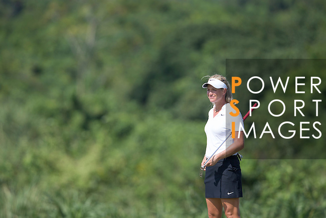 Suzann Pettersen plays during the World Celebrity Pro-Am 2016 Mission Hills China Golf Tournament on 22 October 2016, in Haikou, China. Photo by Victor Fraile / Power Sport Images