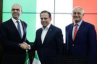 21.02.2018 - Reunião de Doria e o ministro Italiano dos negócios estrangeiros Angelino Alfano