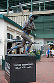 Statue honoring Chicago Cubs great Billy Williams, a member of the Baseball Hall of Fame, outside Wrigley Field in Chicago, Illinois on Thursday, August 22, 2013.<br /> Credit: Ron Sachs / CNP