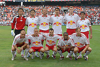New York Red Bulls starting eleven team. DC United defeated the New York Red Bulls, 4-2, at RFK Stadium in Washington DC, Sunday, June 10, 2007.