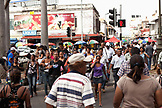 MAURITIUS; busy street scene in the business district; Port Louis