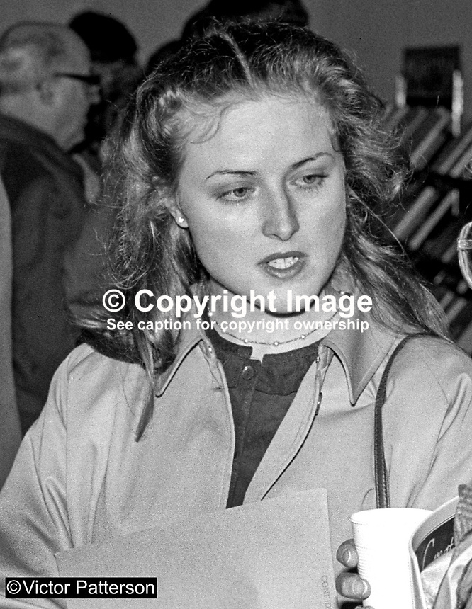 Clare Marson, private secretary, Nicholas Scott, MP, Conservative Party, UK, Junior Minister, N Ireland Office, 19840027CM2.<br />