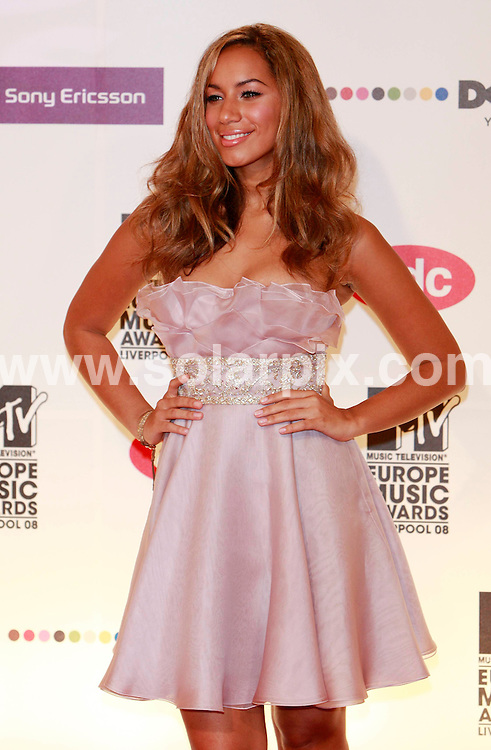**ALL ROUND PICTURES FROM SOLARPIX.COM**.**SYNDICATION RIGHTS FOR UK AND SPAIN ONLY**.pictured at the MTV Europe Music Awards 2008 in Liverpool, UK. 6th November 2008..This pic: Leona Lewis..JOB REF: 7814 CPR (Heinz)       DATE: 06_11_2008.**MUST CREDIT SOLARPIX.COM OR DOUBLE FEE WILL BE CHARGED* *UNDER NO CIRCUMSTANCES IS THIS IMAGE TO BE REPRODUCED FOR ANY ONLINE EDITION WITHOUT PRIOR PERMISSION*
