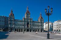 Rathaus in La Coruña, Galicien, Spanien