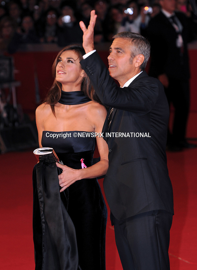 """GEORGE CLOONEY AND ELISABETTA CANALIS.'Up In The Air' European premiere, 4th International Rome Film Festival,  Auditorium Parco della Musica, Rome_17/10/2009.Mandatory Credit Photo: ©NEWSPIX INTERNATIONAL..**ALL FEES PAYABLE TO: """"NEWSPIX INTERNATIONAL""""**..IMMEDIATE CONFIRMATION OF USAGE REQUIRED:.Newspix International, 31 Chinnery Hill, Bishop's Stortford, ENGLAND CM23 3PS.Tel:+441279 324672  ; Fax: +441279656877.Mobile:  07775681153.e-mail: info@newspixinternational.co.uk"""