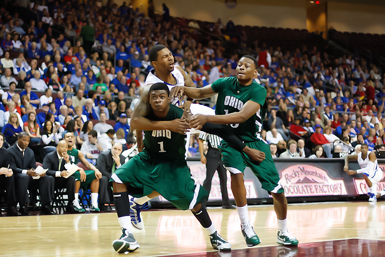 Nov. 26, 2010. Las Vegas, NV: The Kansas Jayhawks defeated the Ohio Bobcats in the Las Vegas Invitational at the Orleans Arena.