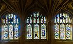 Leadlight windows of Historic Quadrant Building at Sydney University, NSW, Australia