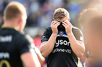 Tom Ellis of Bath Rugby looks dejected after the final whistle. Heineken Champions Cup match, between Bath Rugby and Stade Toulousain on October 13, 2018 at the Recreation Ground in Bath, England. Photo by: Patrick Khachfe / Onside Images
