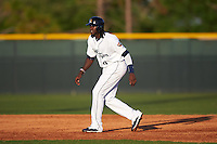 Lakeland Flying Tigers center fielder Cameron Maybin (4), on rehab assignment from the Detroit Tigers, leads off second during a game against the Tampa Yankees on April 7, 2016 at Henley Field in Lakeland, Florida.  Tampa defeated Lakeland 9-2.  (Mike Janes/Four Seam Images)