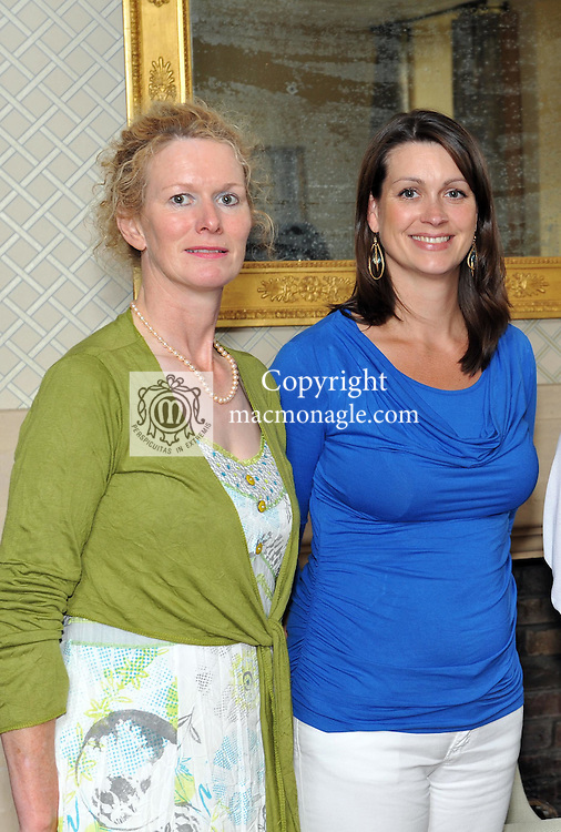 Pictured at the Ard na Sidhe Manor House afternoon tea and culture with Artist Pauline Bewick  overlooking Caragh Lake were, Rita Foley, Killarney and Anne Marie Curran, Dublin..Picture by Don MacMonagle..PR photo: Ard na SIdhe:.Further info: Joanne Byrne / Presence PR 353 1 676 1062