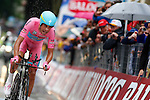 23/05/2015, Valdobbiadene - Giro d'Italia 2015 - Cycling road race - Individual Time Trial<br /> 21 Fabio Aru (Ita) in action at the finish of the individual time trial of 59,4 km of stage 14th on 23/05/2015 in Valdobbiadene, Italy.