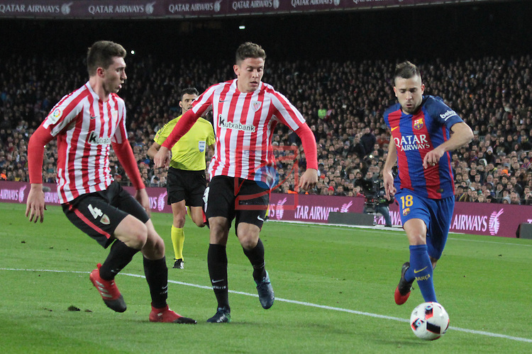 Copa del Rey 2016/2017 - 1/8 final vuelta.<br /> FC Barcelona vs Athletic Club: 3-1.<br /> Laporte, Eraso &amp; Jordi Alba.