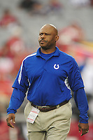 Sept. 27, 2009; Glendale, AZ, USA; Indianapolis Colts special assistant to the defense coach Rod Perry against the Arizona Cardinals at University of Phoenix Stadium. Indianapolis defeated Arizona 31-10. Mandatory Credit: Mark J. Rebilas-