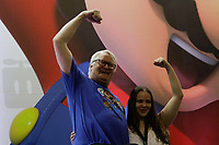 SAO PAULO,SP, 12.10.2018 - GAME-SHOW - Charles Martinet dublador do personagem Mario, durante a Brasil Game Show na tarde desta sexta-feira (12) no Expo Center Norte, região norte de São Paulo.<br /> <br /> (Foto: Fabricio Bomjardim / Brazil Photo Press)