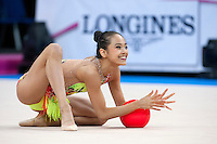 September 07, 2015 - Stuttgart, Germany - LAURA ZENG of USA performs during AA qualifications at 2015 World Championships.