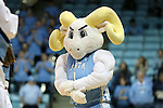 16 February 2017: UNC mascot Rameses. The University of North Carolina Tar Heels hosted the Ramblin' Wreck from Georgia Tech University at Carmichael Arena in Chapel Hill, North Carolina in a 2016-17 NCAA Division I Women's Basketball game. North Carolina won the game 89-88.