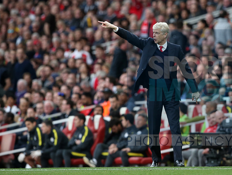 Arsenal's Arsene Wenger in action during the Premier League match at the Emirates Stadium, London. Picture date: April 2nd, 2017. Pic credit should read: David Klein/Sportimage