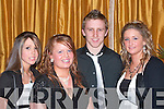 Having fun at the Kee G A A Social in Ballygarry House Hotel Tralee on Sunday were Nicola Evens, Caroline O'Brien, Chris Crowley and Georgina Evans..   Copyright Kerry's Eye 2008