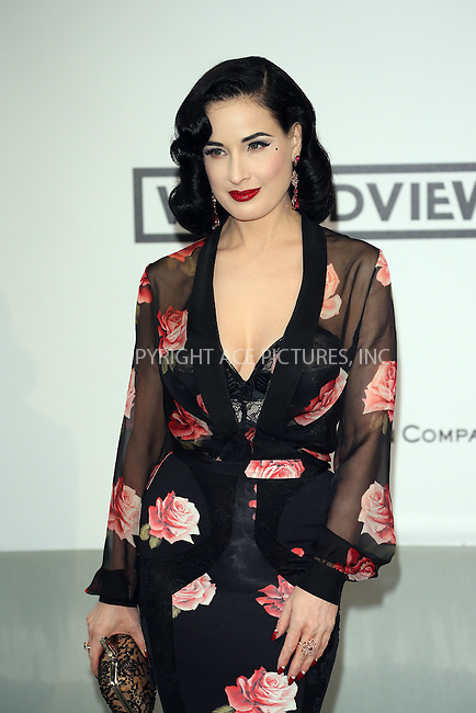ACEPIXS.COM<br /> <br /> May 21 2014, Cannes<br /> <br /> Dita von Teese arriving at amfAR's 21st Cinema Against AIDS Gala during the 67th Cannes International Film Festival at Hotel du Cap-Eden-Roc on May 21 2014 in Cap d'Antibes, France<br /> <br /> By Line: Famous/ACE Pictures<br /> <br /> ACE Pictures, Inc.<br /> www.acepixs.com<br /> Email: info@acepixs.com<br /> Tel: 646 769 0430