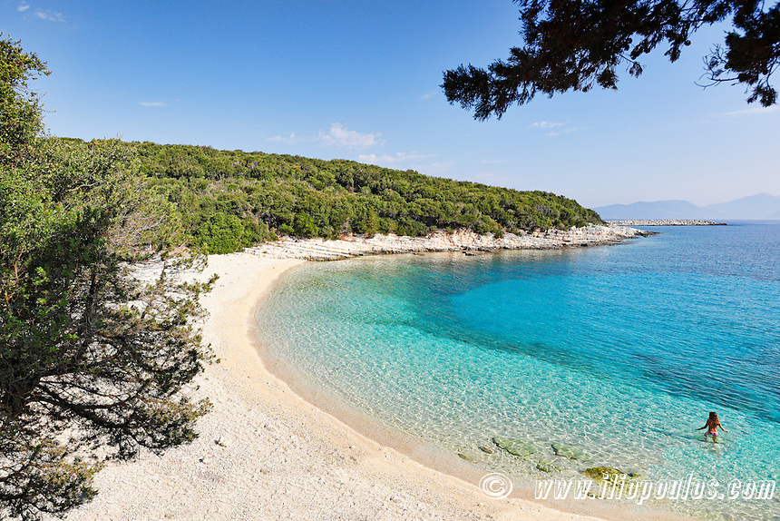 The beach Emblisi in Kefalonia island, Greece