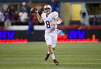 SEATTLE, WA - September 28, 2013: Stanford quarterback Kevin Hogan looks to pass while scrambling during play against Washington State at CenturyLink Field. Stanford won 55-17.