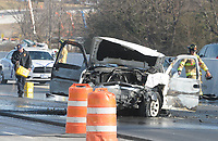 (THIS WAS ALL THE INFO I HAVE AT THE MOMENT.)( MAYBE A REPORTER CAN ADD SOMETHING?)<br /> <br /> NWA Democrat-Gazette/DAVID GOTTSCHALK Emergency personnel, including the city of Fayetteville Fire Department, respond Friday, January 5, 2018, to a wreck and vehicle fire on the south bound lane of I-49 near exit 67B in Fayetteville. The Friday morning accident temporarily closed the southbound lanes. <br /> <br /> (THIS WAS ALL THE INFO I HAVE AT THE MOMENT.)( MAYBE A REPORTER CAN ADD SOMETHING?)