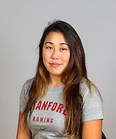 Katie Torigoe with Stanford women's rowing ltw team