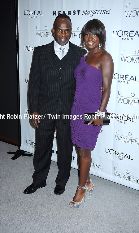 Viola Davis and husband Julius Tennon at The L' Oreal Paris Fifth Annual Women of Worth Awards honoring Extraordinary Women Dedicated to Volunteerisim and Community at The Hearst Tower on December 9, 2010 in New York City.
