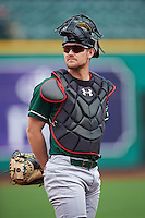 Great Lakes Loons catcher Brant Whiting (1) during the first game of a doubleheader against the Fort Wayne TinCaps on May 11, 2016 at Parkview Field in Fort Wayne, Indiana.  Great Lakes defeated Fort Wayne 3-0.  (Mike Janes/Four Seam Images)