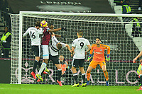 Issa Diop of West Ham United goes up for a corner during West Ham United vs Fulham, Premier League Football at The London Stadium on 22nd February 2019