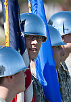 October 22, 2011:  Color guard before the Nevada Wolf Pack and Fresno State Bulldogs WAC league game played at Mackay Stadium in Reno, Nevada.