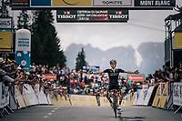 Adam Yates (GBR/Mitchelton-Scott) wins the last stage & finishes 2nd overall <br /> <br /> Stage 7: Moûtiers > Saint-Gervais Mont Blanc (129km)<br /> 70th Critérium du Dauphiné 2018 (2.UWT)