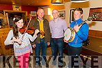 Pictured at Launch Night for the Con Curtin music Festival was L-R: Caoimhe Flannery, Rockchapel, Gerard Curtin, Denis Curtin, Brosna and John Forde, Abbeyfeale.