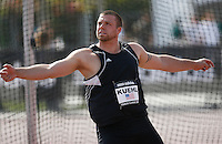 Adam Kuehl threw 60.64m in the discus throw at the Adidas Track Classic 2009 on Saturday May 16, 2009. Photo by Errol Anderson,The Sporting Image.net