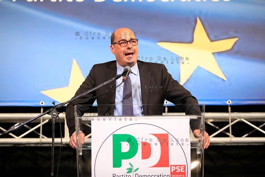 Europee 2019 Manifestazione elettorale del Pd con  il segretario Nicola Zingaretti