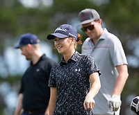 Munchin Keh, during her first round on Sunday at the NZPWG Women's Pro-Am in Memory of Anita Boon, played at the Remuera Golf Course.