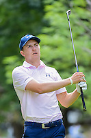 Jordan Spieth (USA) watches his tee shot on 7 during round 2 of the World Golf Championships, Mexico, Club De Golf Chapultepec, Mexico City, Mexico. 3/3/2017.<br /> Picture: Golffile | Ken Murray<br /> <br /> <br /> All photo usage must carry mandatory copyright credit (&copy; Golffile | Ken Murray)